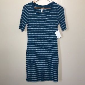 Kensie | NWT Sweater Knit Striped Dress Fitted